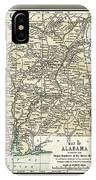 Alabama Antique Map 1891 IPhone Case