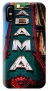 Alabama Theater Sign 1 IPhone Case
