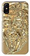 Albert Sticks Out His Tongue 24 Kt Gold 4  IPhone Case