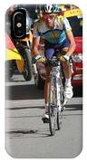 Alberto Contador - Mountain Stage IPhone Case by Travel Pics