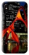 Alexander Calder's Flamingo IPhone Case