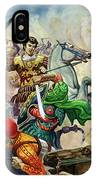 Alexander The Great At The Battle Of Issus  IPhone Case