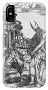 Alexander The Great Kneeling Before The High Priest Of Ammon IPhone Case
