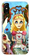 Alice And The Rabbit Having Tea... IPhone Case