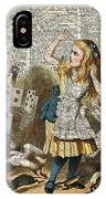 Alice In The Wonderland On A Vintage Dictionary Book Page IPhone Case