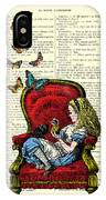 Alice In Wonderland Playing With Cute Cat And Butterflies IPhone X Case