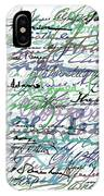 All The Presidents Signatures Teal Blue IPhone Case