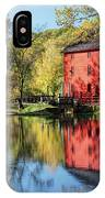 Alley Spring Mill Reflection IPhone Case