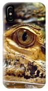 Alligator Eye Close Up-2 IPhone Case