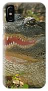 Alligator Showing Its Teeth IPhone Case