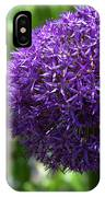 Allium Gladiator Closeup IPhone Case