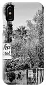 Aloha Hotel Bw Palm Springs IPhone Case