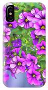 Aloha Purple Sky Calibrachoa Abstract I IPhone Case