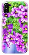 Aloha Purple Sky Calibrachoa Abstract II IPhone Case