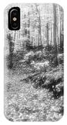 Along The Path Bw  IPhone Case