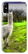 Alpaca Enjoying The View. IPhone Case