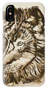 Alpha Male - The Wolf - Antiqued IPhone Case