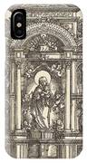 Altar With The Virgin And Child And Saints Christopher, Barbara, George And Catherine IPhone Case