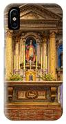 Alter Of The Mission San Buenaventura IPhone Case
