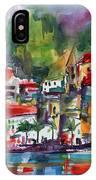 Amalfi Coast Italy Expressive Watercolor IPhone X Case