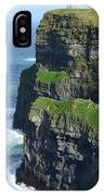 Amazing Look At The Sea Cliff's Of Moher In Ireland IPhone Case