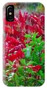Amazing Nature Blessings Magic Colors Cherry Red Green Shrubs Plants Save  The Environment IPhone Case