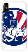 American Barber Usa Flag Icon IPhone Case