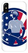 American Coal Miner Usa Flag Icon IPhone Case