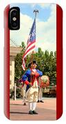 American Fife And Drum Corp Flag Carrier IPhone Case