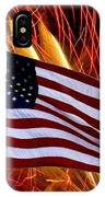 American Flag And Fireworks IPhone Case