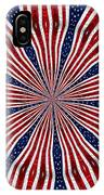 American Flag Kaleidoscope Abstract 6 IPhone Case