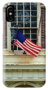 American Flag On An Old Building IPhone Case