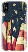 American Flags Painted Square Format IPhone Case