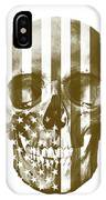 American Skull Beige IPhone Case