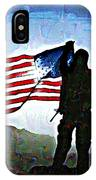 American Soldier With Flag IPhone Case