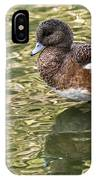 American Wigeon In Autumn IPhone Case