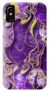 Amethyst  With Gold Marbled Texture IPhone Case