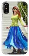 Ameynra Fashion. Petal Skirt. Model Sofia IPhone Case
