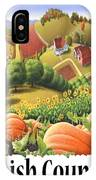 Amish Country - Pumpkin Patch Country Farm Landscape IPhone Case
