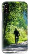 Amish Couple On Bicycles IPhone Case