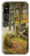 Amish Horse And Buggy Crossing A Bridge IPhone Case