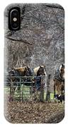 Amish Horses In Harness IPhone Case