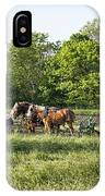 Amish Man Plowing IPhone Case