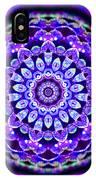 Ammersee Cropcircle Lightmandala Morph IPhone Case by Robert Thalmeier