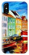 Amsterdam-city Dock - Palette Knife Oil Painting On Canvas By Leonid Afremov IPhone Case