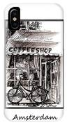 Amsterdam Coffe Shop Black And White IPhone Case
