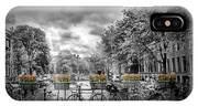 Amsterdam Gentlemens Canal Typical Cityscape IPhone Case