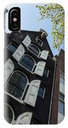 Amsterdam Spring - Arched Windows And Shutters - Right IPhone Case