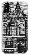 Amsterdam Woodcut IPhone Case