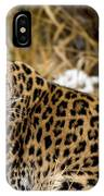 Amur Leopard In A Snowy Forrest IPhone Case